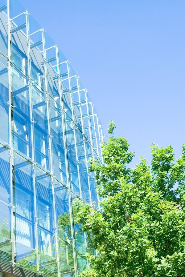 De groene bedrijfsbureaubouw royalty-vrije stock foto