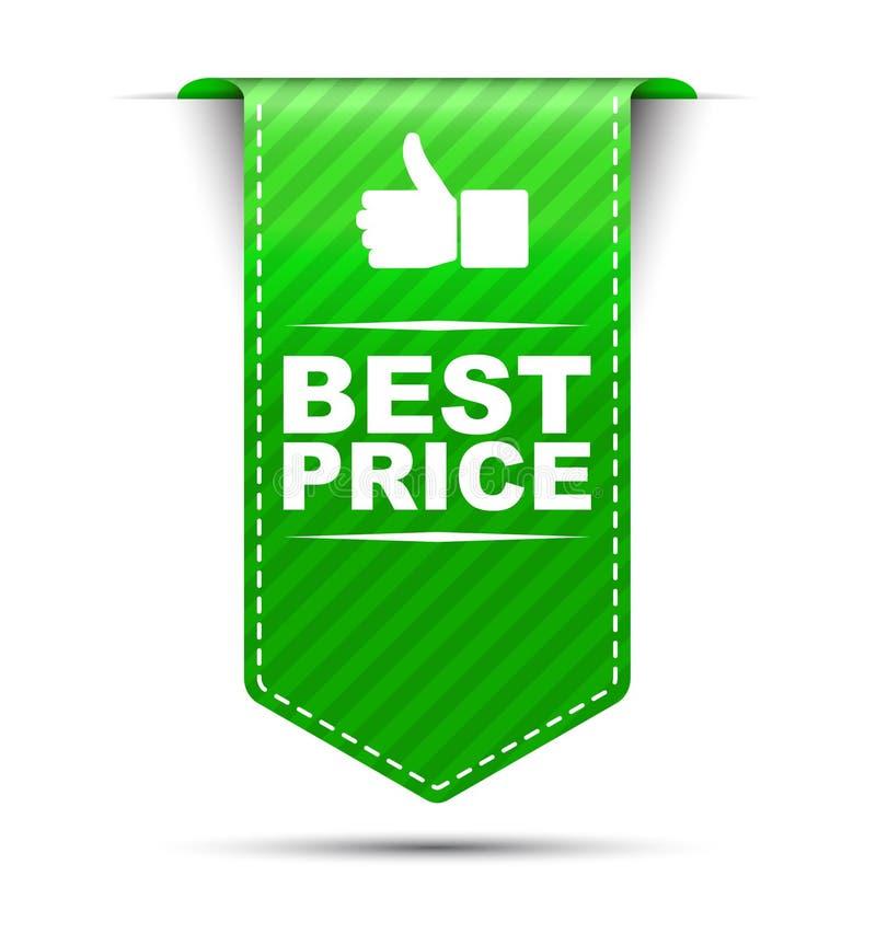 De groene beste prijs van het bannerontwerp stock illustratie