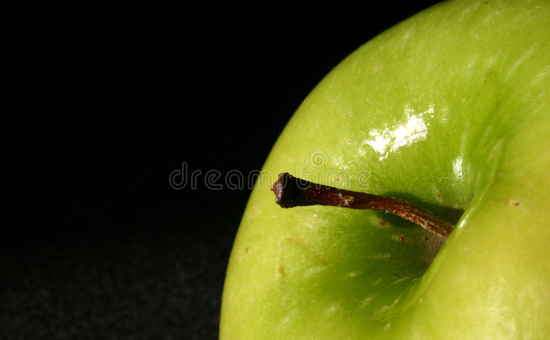 Download De Groene Bovenkant Van De Appel Stock Afbeelding - Afbeelding bestaande uit sectie, achtergrond: 47649