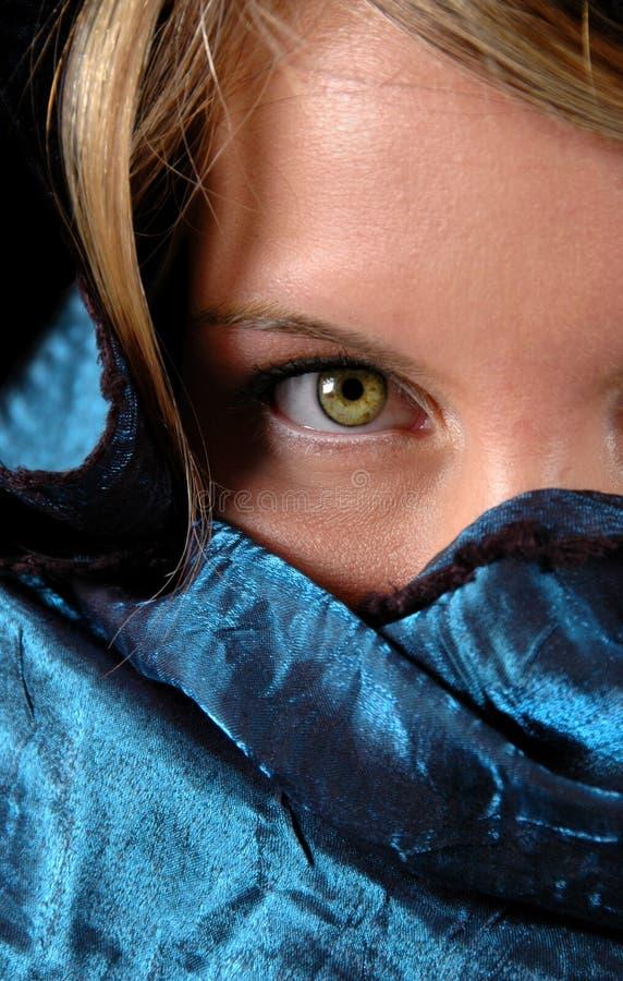 De groene Close-up van het Oog stock foto