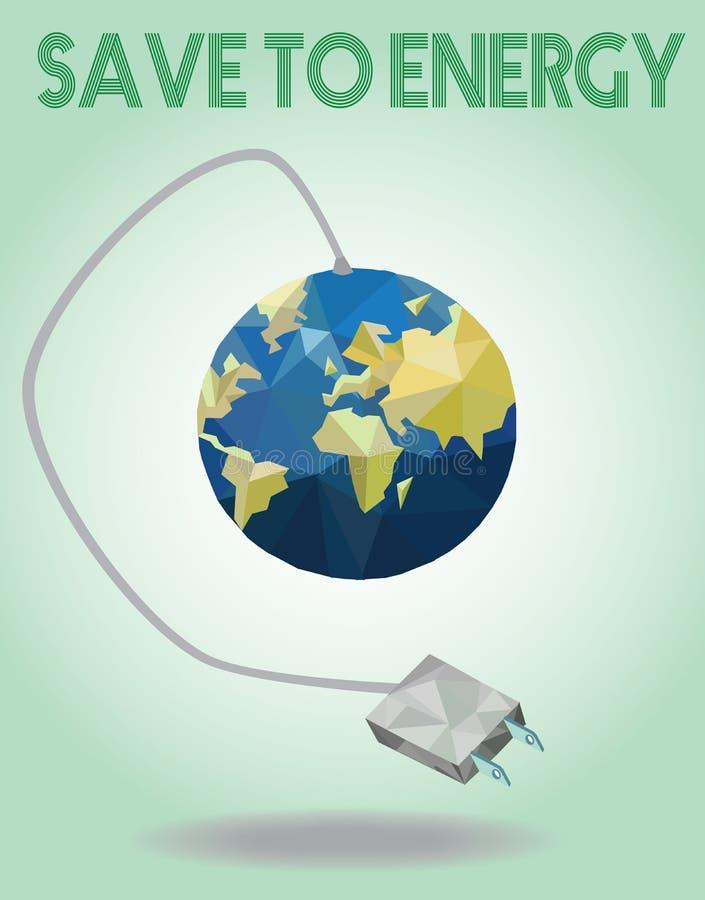 De groene concepten besparen energie royalty-vrije illustratie
