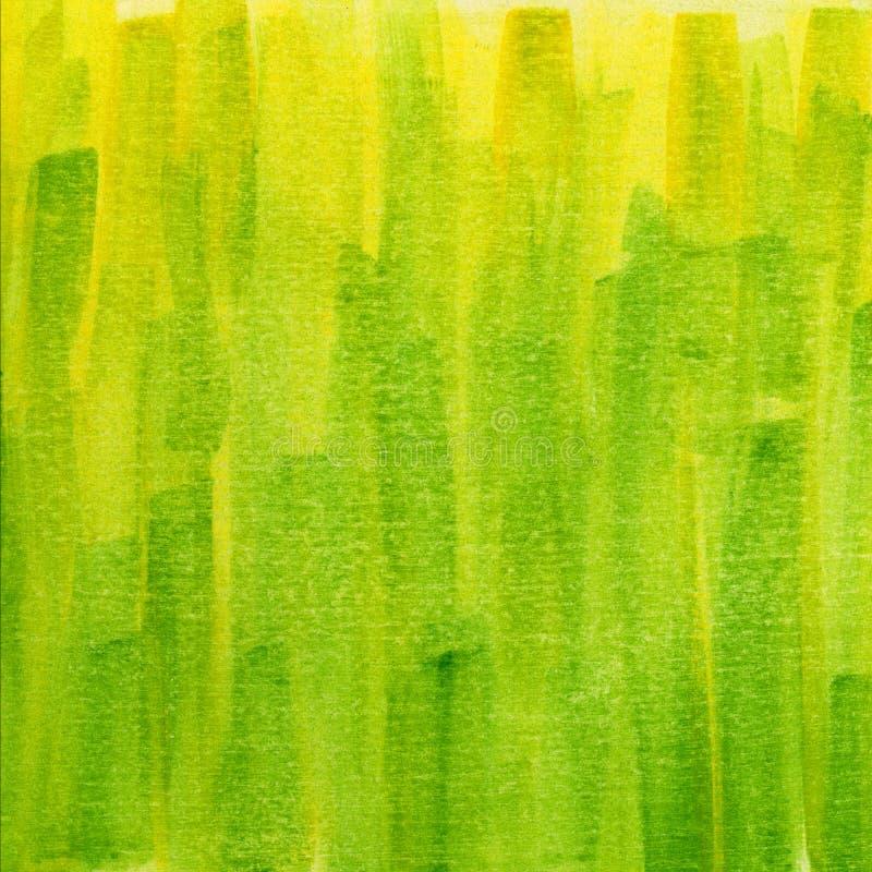 De groene en gele textuur van de grungewaterverf royalty-vrije stock foto's