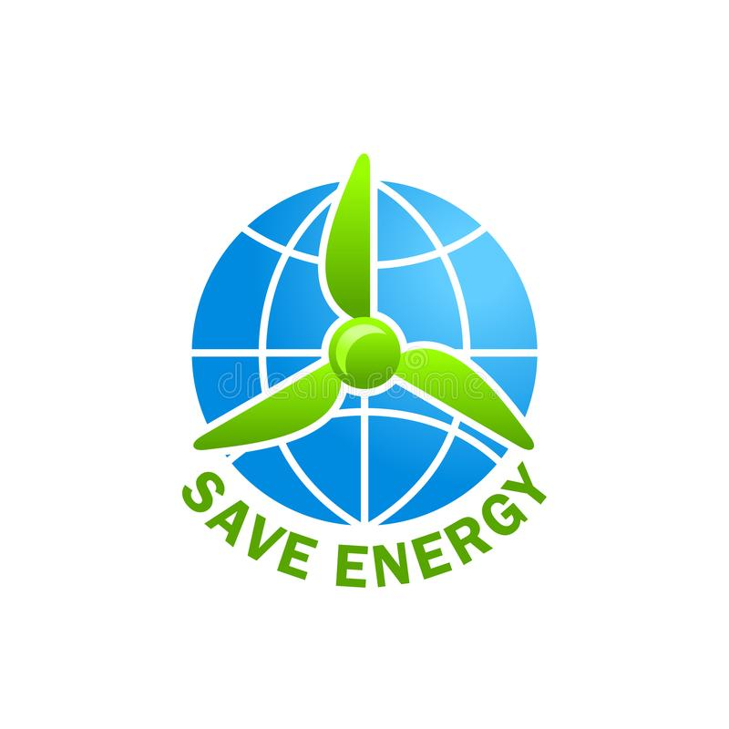 De groene energie bewaart de aarde van de planeetecologie vectorpictogram vector illustratie
