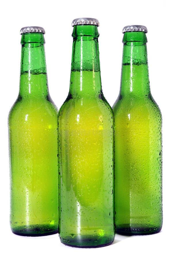 De groene Flessen van het Bier royalty-vrije stock afbeelding
