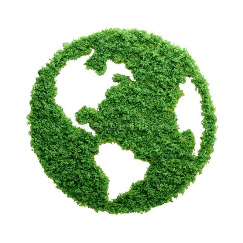 De groene geïsoleerde Aarde van graseco royalty-vrije stock fotografie