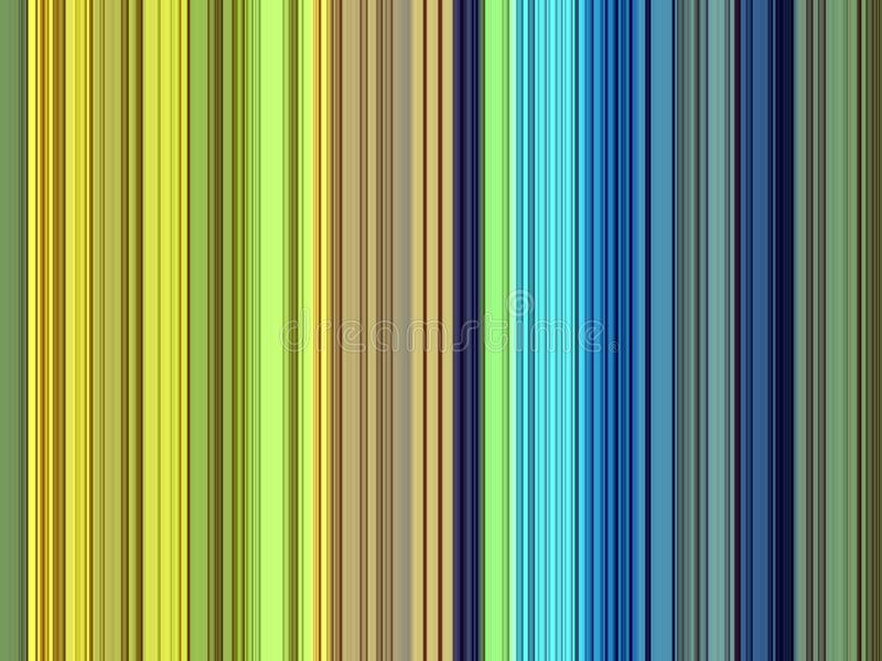 De groene gele blauwe lijnenachtergrond, vat kleurrijke meetkunde samen vector illustratie
