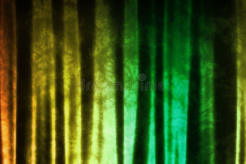 De groene Gele Muziek Geïnspireerdel Abstracte Achtergrond van DJ stock illustratie