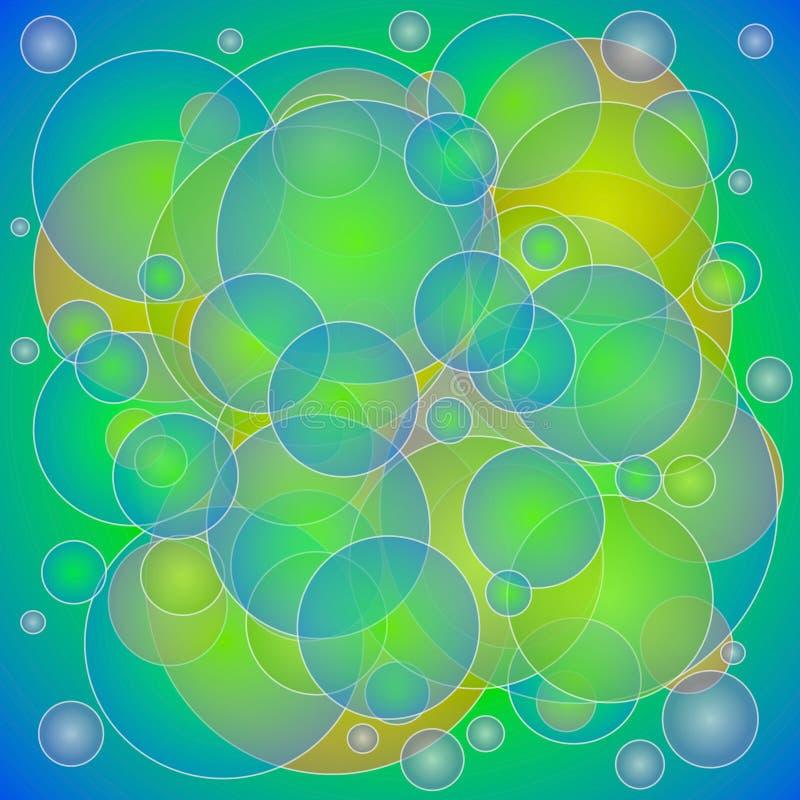 De groene Gele Textuur van Cirkels royalty-vrije illustratie