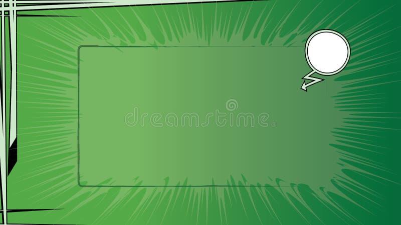 De groene Grappige Achtergrond van het Boek royalty-vrije illustratie