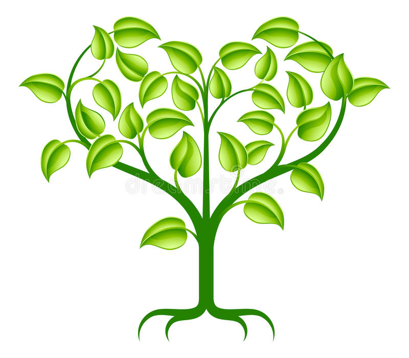 De groene illustratie van de hartboom vector illustratie