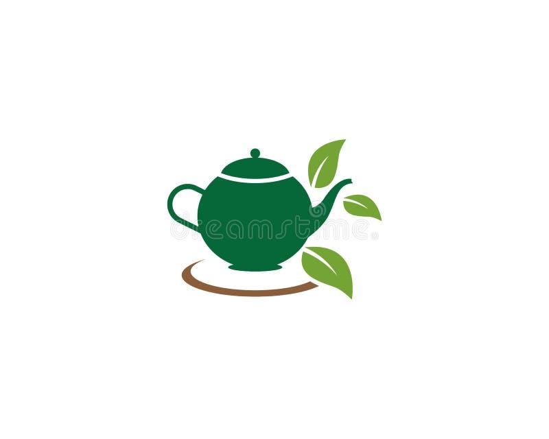 De groene illustratie van het theeembleem stock illustratie