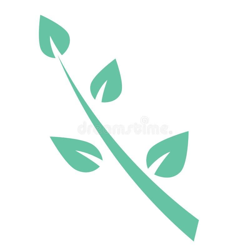 De groene illustratie van het twijgembleem vector illustratie