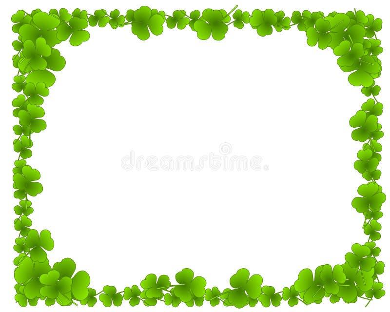 De groene Klaver verlaat het Frame van de Grens van het Blad stock illustratie