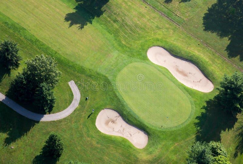 De Groene Luchtfoto van de golfcursus royalty-vrije stock afbeeldingen