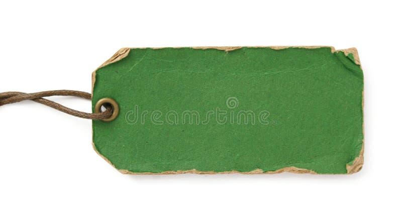 De groene markering van Grunge met bruine draad stock fotografie