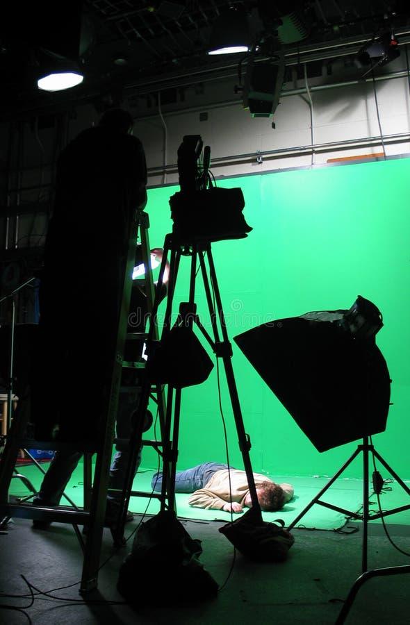 De groene Opstelling van het Scherm royalty-vrije stock afbeeldingen