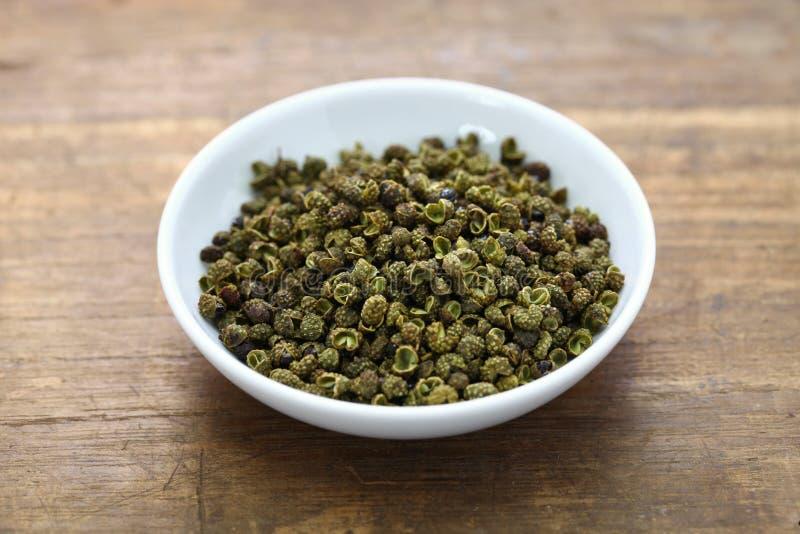 De groene peper van Sichuan stock afbeelding
