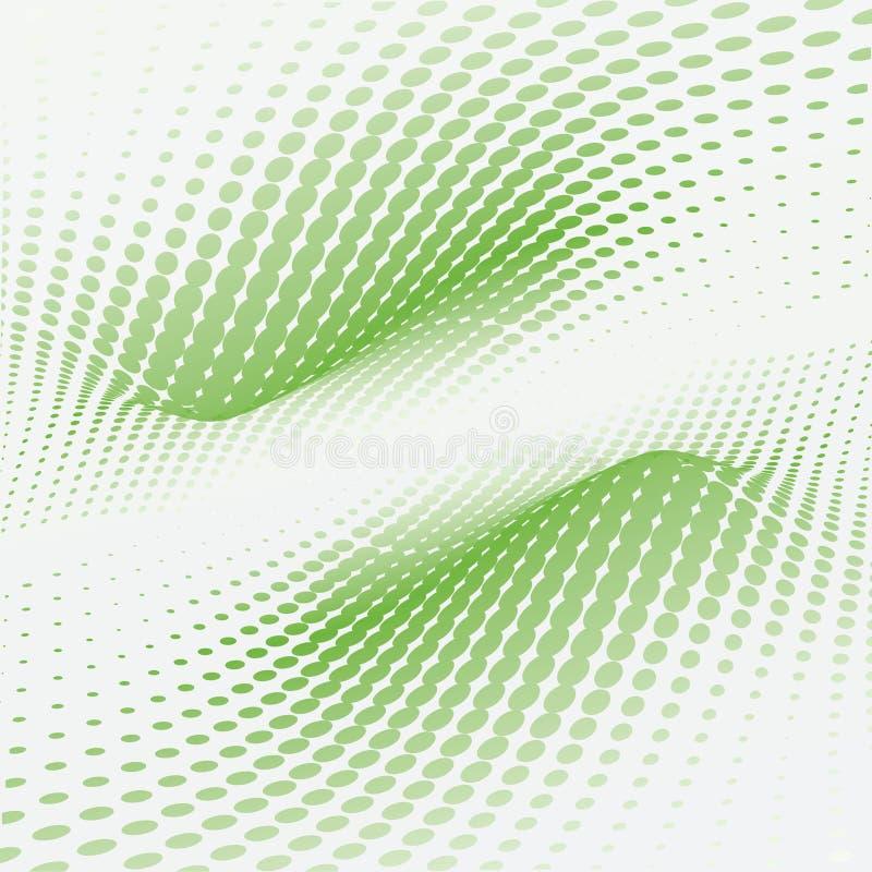 De groene punten van de golf royalty-vrije illustratie