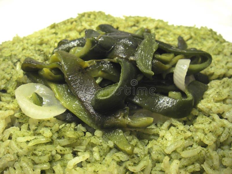 De groene Rijst van Chili stock foto