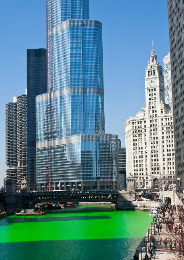 De Groene Rivier van Chicago royalty-vrije stock fotografie