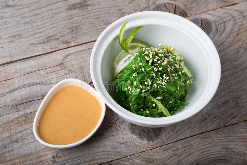 De groene salade van het chukazeewier stock afbeeldingen