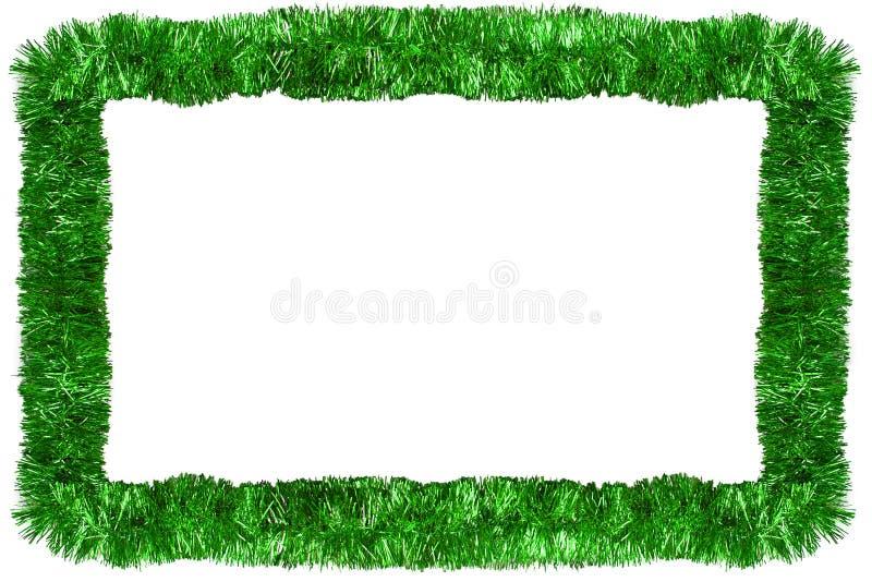 De groene slinger van Kerstmis royalty-vrije stock foto
