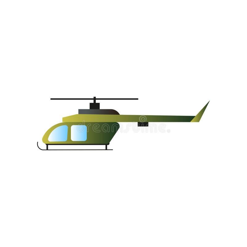 De groene strijd van de de oorlogshelikopter van de olijfkleur militaire royalty-vrije illustratie
