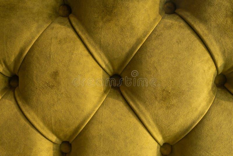De groene textielachtergrond van fluweelcapitone, retro van de de stijl geruite zachte doorgenaaide stof van Chesterfield van de  royalty-vrije stock afbeeldingen