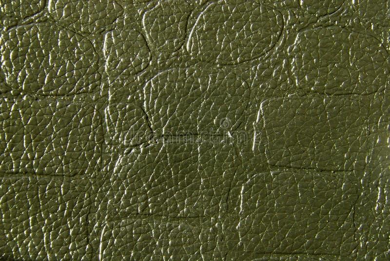 De groene Textuur van het Leer royalty-vrije stock foto's
