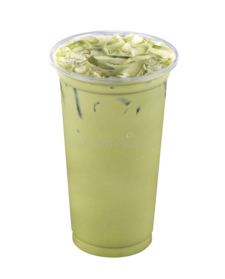 De groene thee van het ijs royalty-vrije stock afbeelding
