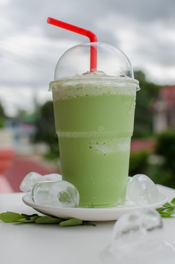 De groene thee van het ijs royalty-vrije stock foto