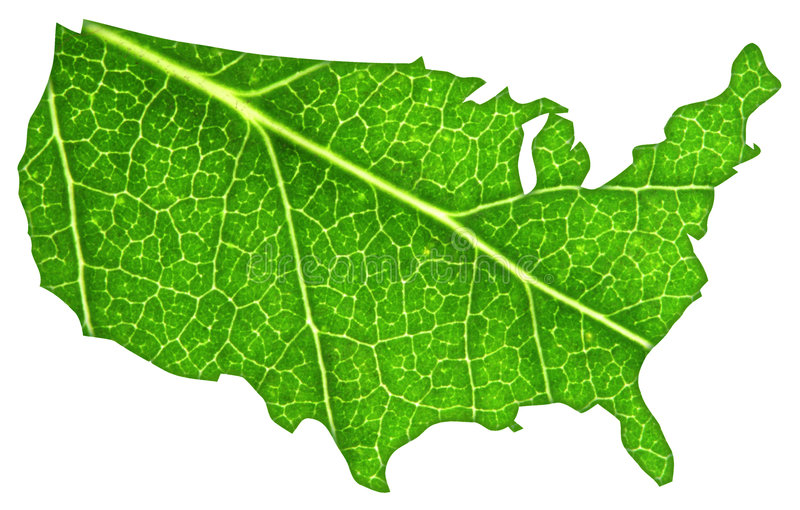 De groene V.S. stock foto
