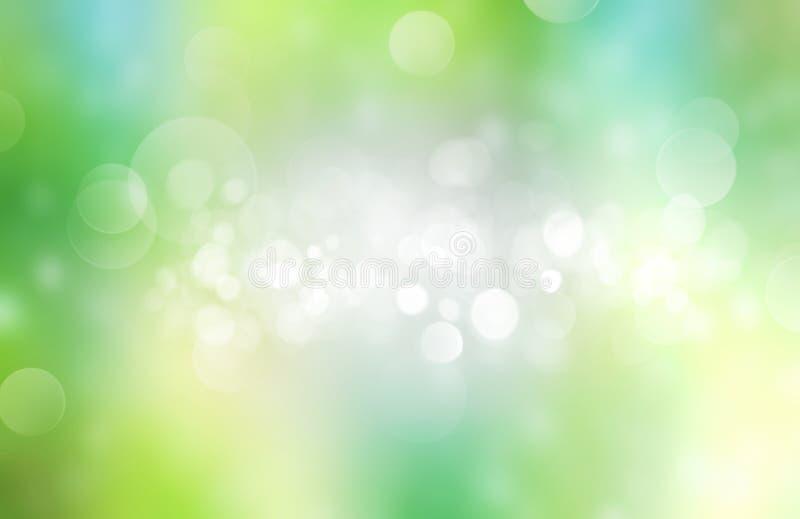 De groene vage achtergrond van de de lentezomer stock illustratie
