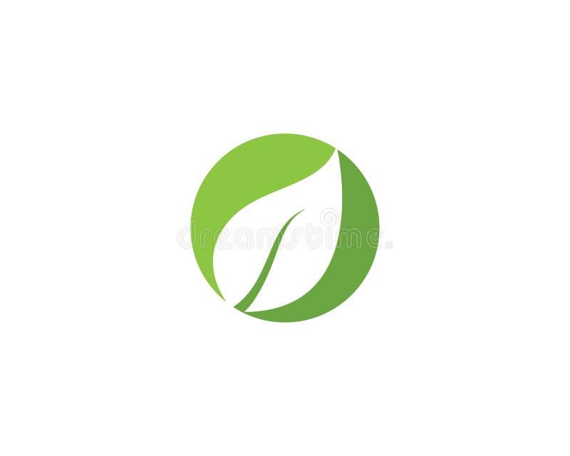 De groene vector van het de aardelement van de bladecologie royalty-vrije illustratie