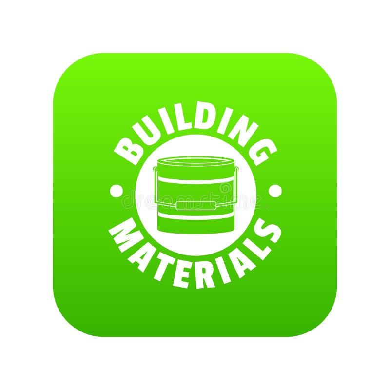 De groene vector van het bouwmateriaalpictogram royalty-vrije illustratie