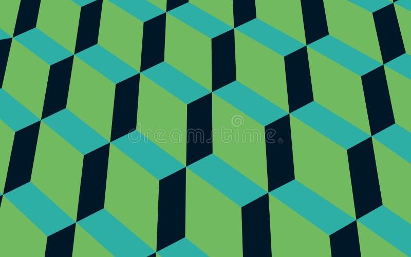 De groene Vector van het Combinatie Geometrische Patroon royalty-vrije illustratie