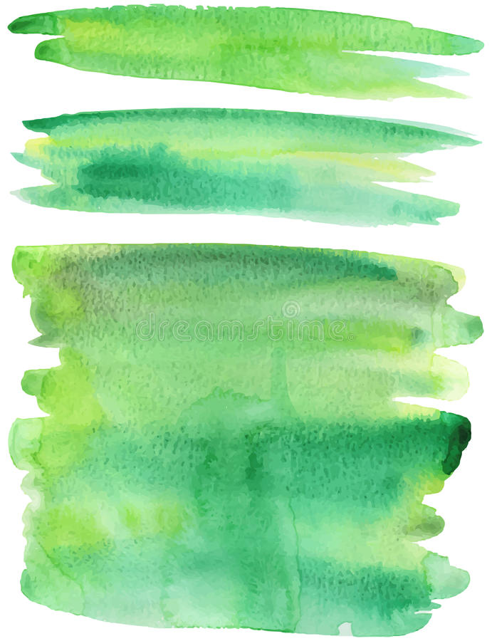 De groene vector van verfslagen stock illustratie