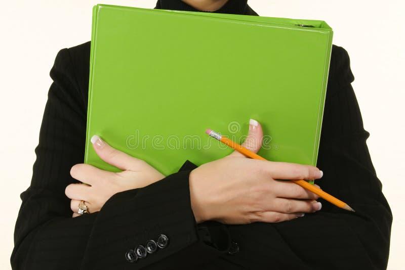 De groene Vrouw van het Bindmiddel stock afbeelding
