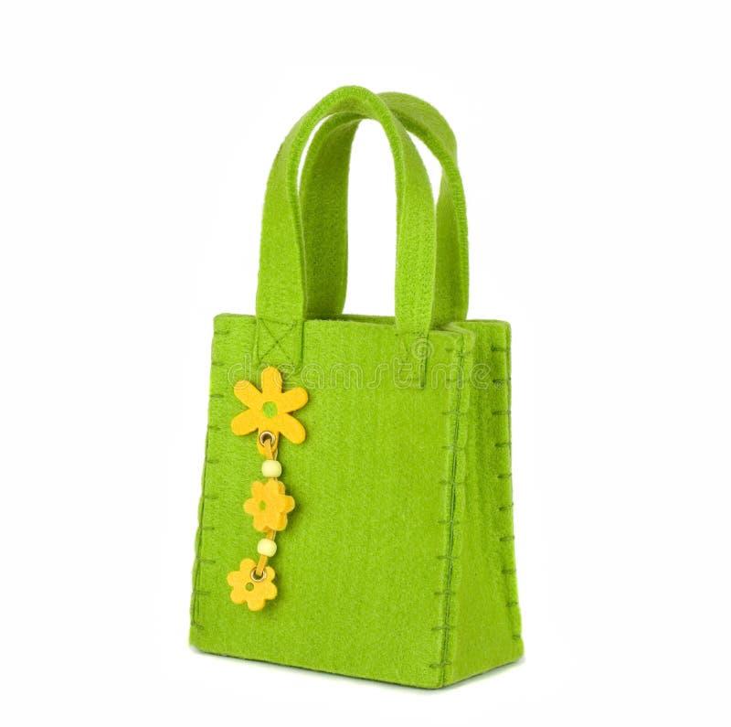 De groene zak royalty-vrije stock fotografie