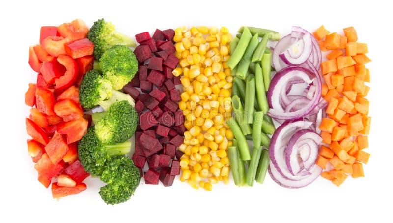De groenten van de besnoeiing stock afbeeldingen