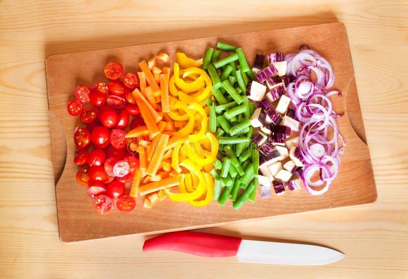 De groenten van de besnoeiing royalty-vrije stock foto