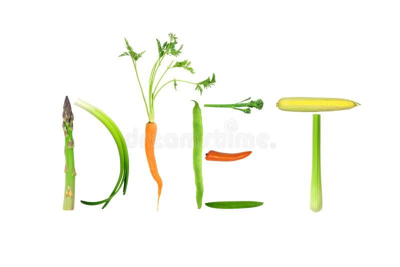 De Groenten van het dieet royalty-vrije stock foto