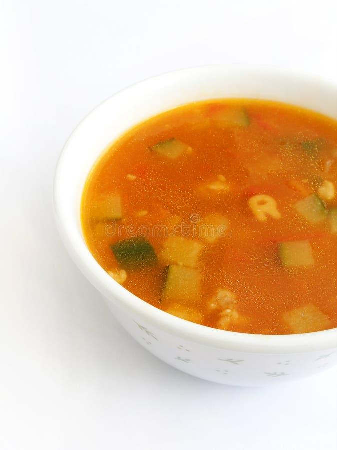 De groentesoep van de tomaat stock foto's