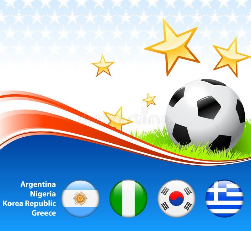 De Groep B van de Voetbal van het Voetbal van de wereld royalty-vrije illustratie