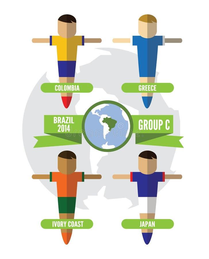 Download De Groep C Van Brazilië 2014 Redactionele Afbeelding - Illustratie bestaande uit groep, amerika: 39116360