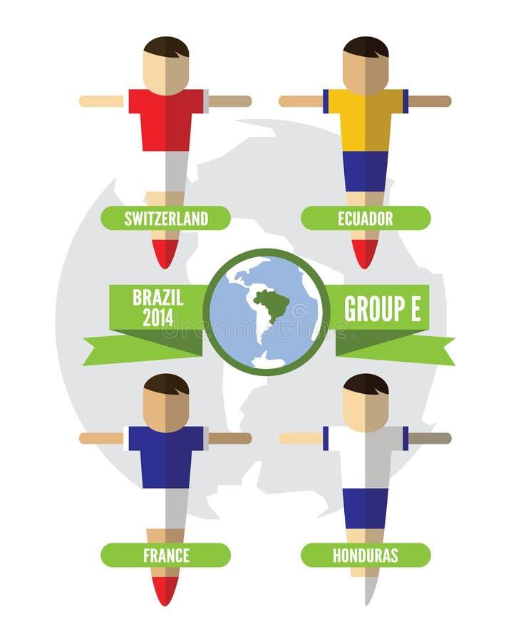 Download De Groep E Van Brazilië 2014 Redactionele Fotografie - Illustratie bestaande uit illustratie, kaart: 39116182