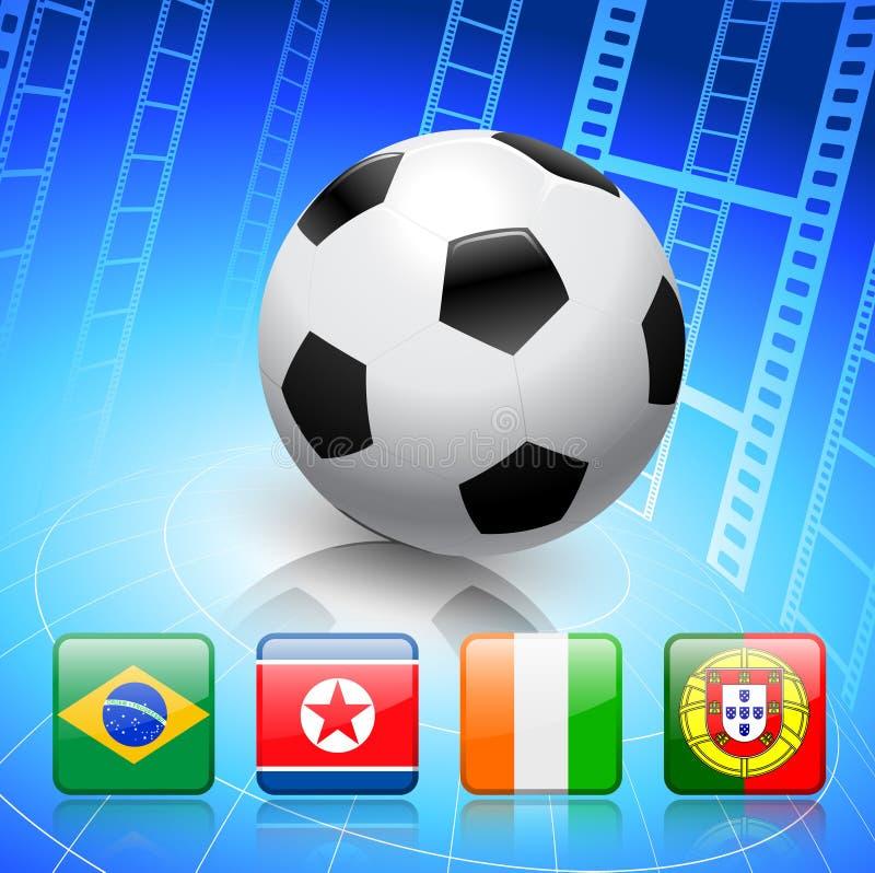 De Groep G van het voetbal/van de Voetbal vector illustratie