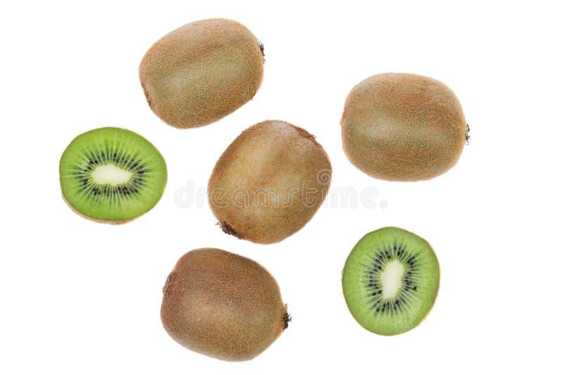 De groep rijpe kiwi sneed hoogste mening. royalty-vrije stock foto's