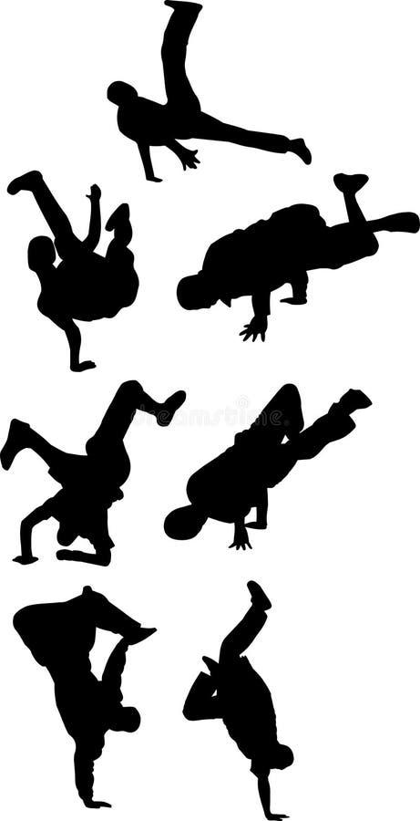 De groep van Breakdancing vector illustratie