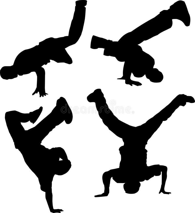 De groep van Breakdancing royalty-vrije illustratie